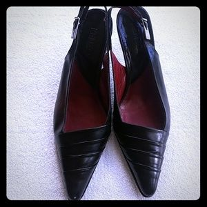 Sling back Kenzo of France leather shoes